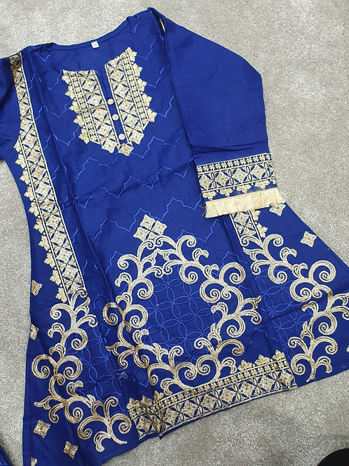 Sequin and embroidered kurta