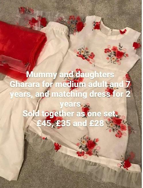 Twinning set 2 yrs7 yrs and adult small/medium