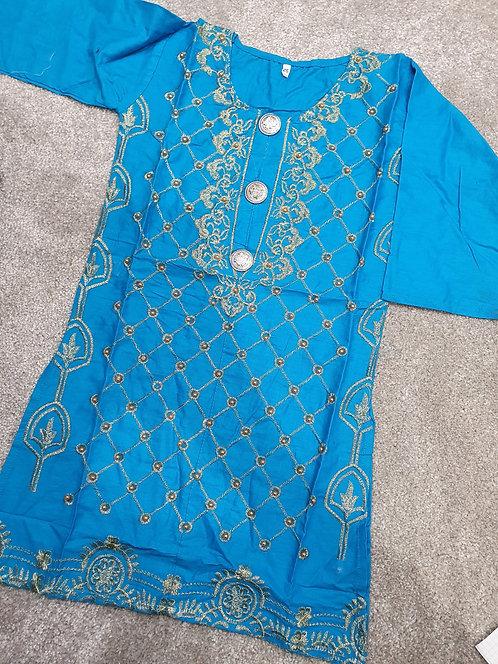 Embroidered and beaded kurta