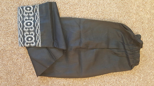 Black trousers - Cotton (size 28, 30,32 and 34)
