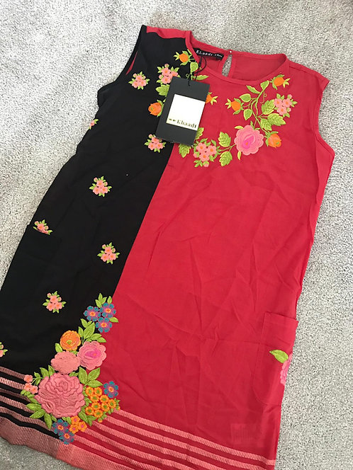 KHAADI - Red and black (age 9-10 years)