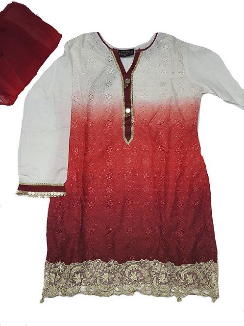 Red/White Ombre - Mona's 3-piece