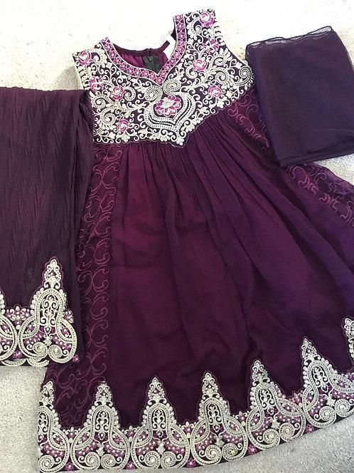 Purple Trouser Suit (size 30)