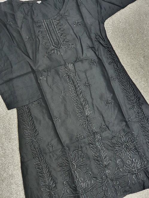 Black embroidered kurta