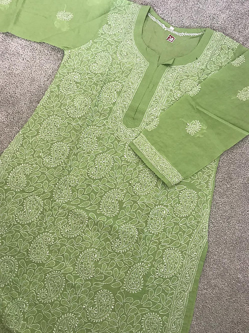Chiken Kari Embroidered Kurta ( size 38)