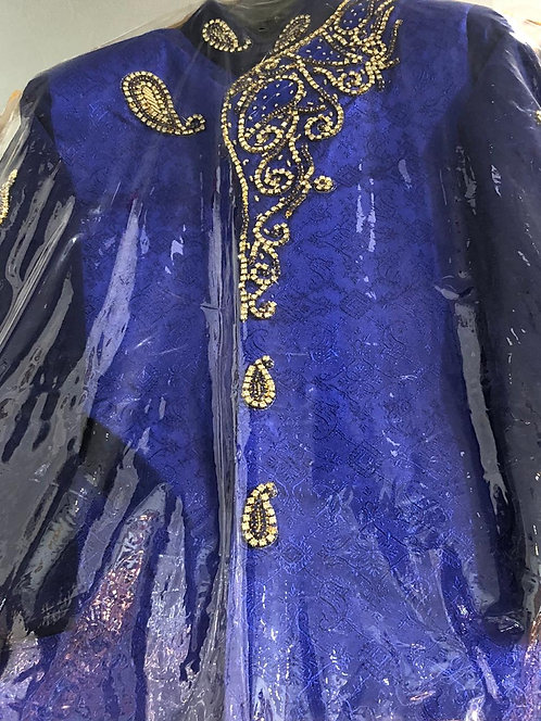 Dark blue Sherwani
