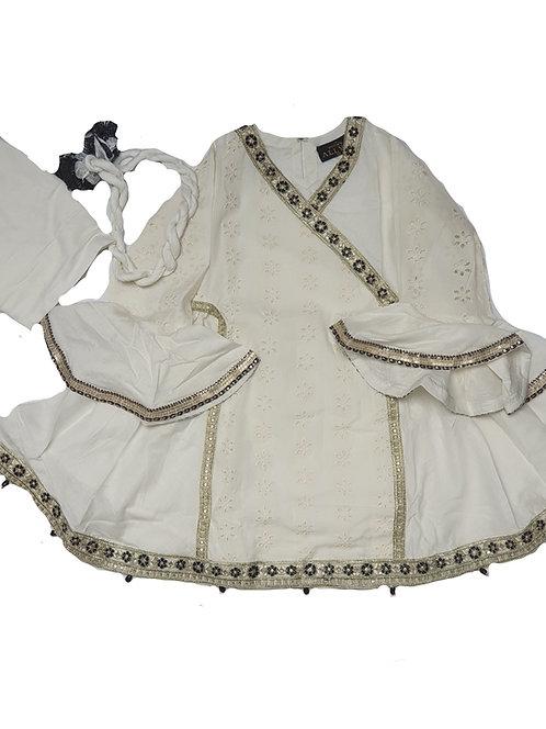 White Angharka Style - Mona's 3-piece