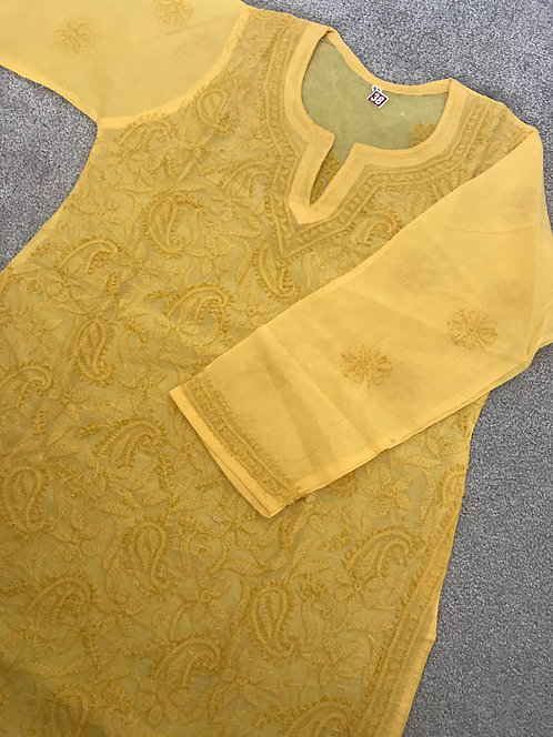 Embroidered Chiken Kari Kurta (size 38)