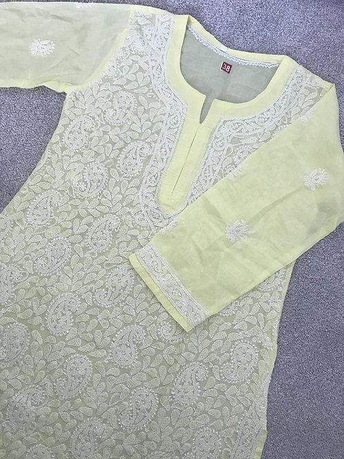Embroidered Chiken Kari Kurta (size 38)