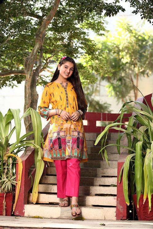 Waniya yellow/pink 2 piece suit