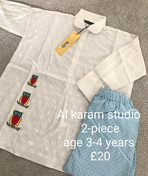 AL KARAM STUDIO 2-piece (3-4 years)