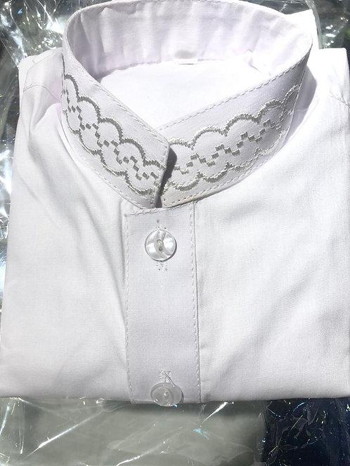 White embroidered shalwar kameez