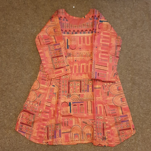 Pink Temple - Lawn kurta (size 28,30 and 32)