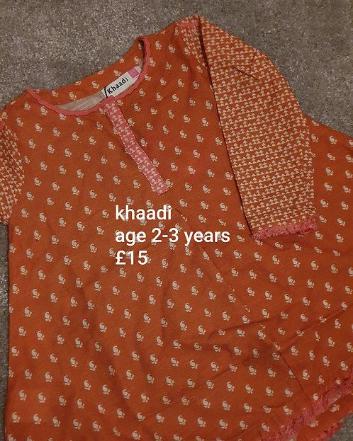 Khaadi kurta (2-3 years)