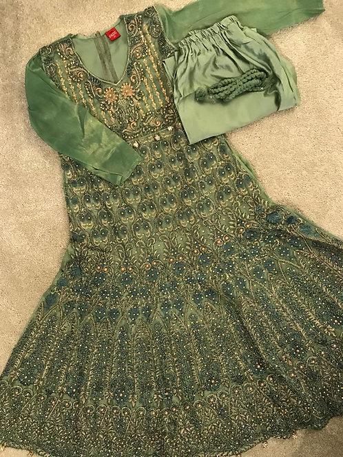 Anarkali style trouser suit 3-piece ( size 34)