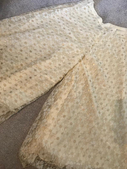 Gold and cream net bottoms (ages 4,6,8,10 and 12)