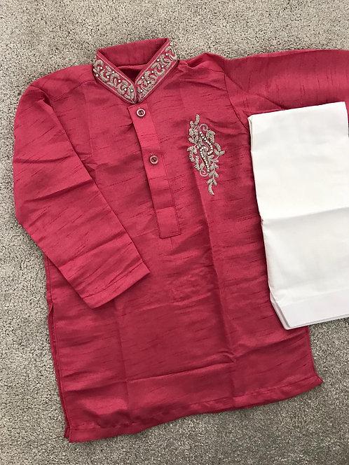 Boys kurta and bottoms-pink