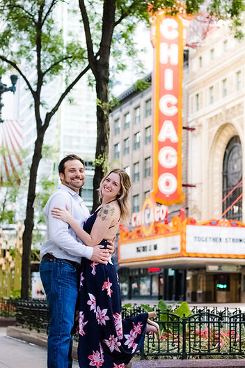 Chicago engagement photo session with engagement photographer