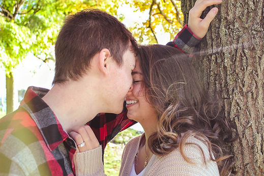 Romantic engagement photoshoot in Kent, OH