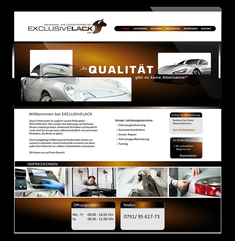 Grafikwerke_Werbung_Exclusivelack_Webdes