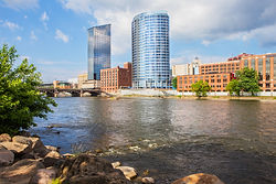 Downtown Grand Rapids Michigan view from