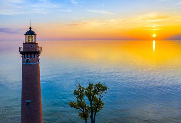 little sable light house at sunset.jpg