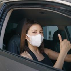 Nancy doesn't mind wearing a mask.