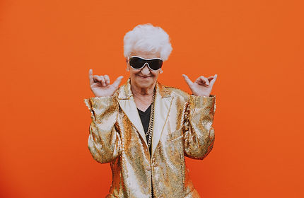 Grandmother portraits on colored backgrounds.jpg