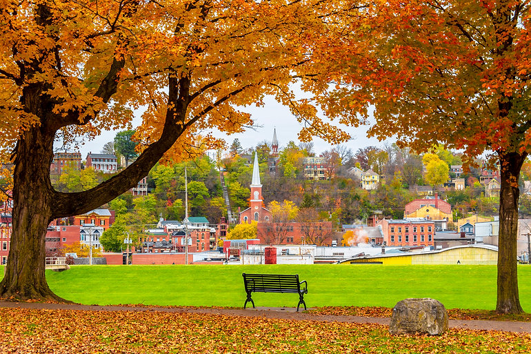 Grant Park view at autumn in Galena Town