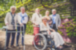 Group of senior people with some disease