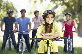 Group Of Young Friends On Cycle Ride In