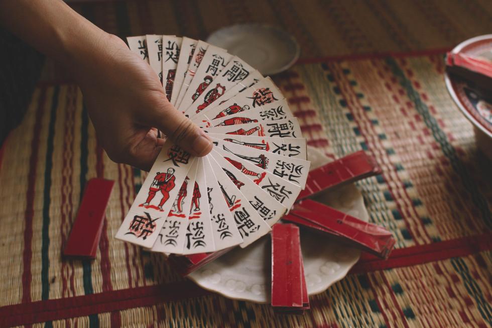 Jeu de cartes ancien chinois