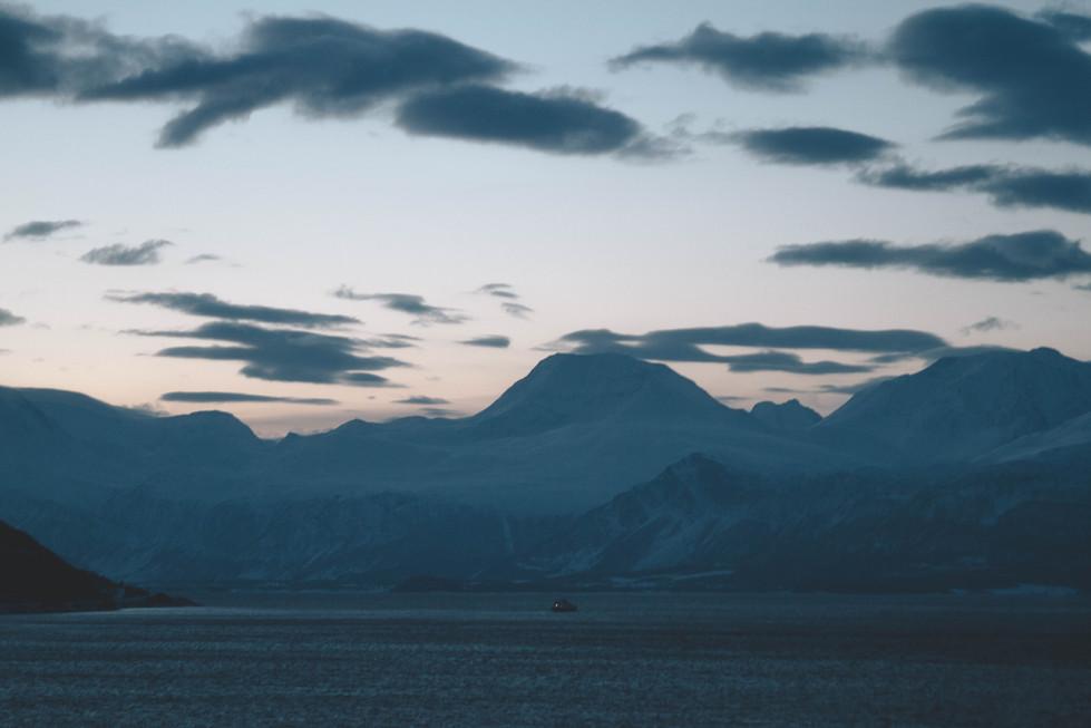 Les montagnes de Lyngen