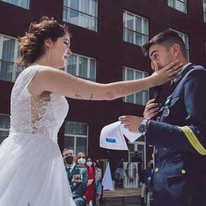 Una boda de alto vuelo.