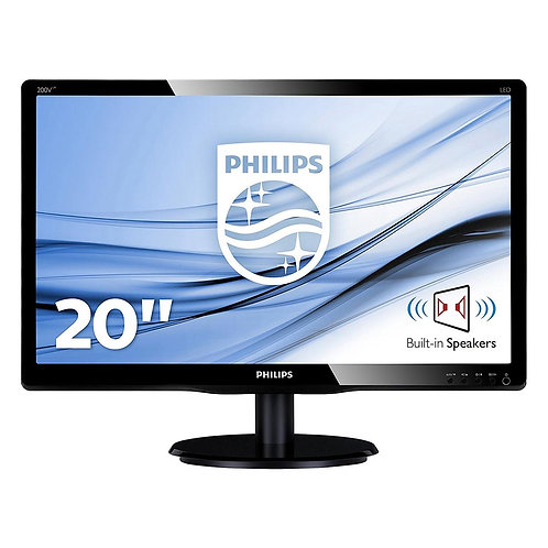 """Philips Led Monitor 20"""" 200V4LAB2  with speakers"""
