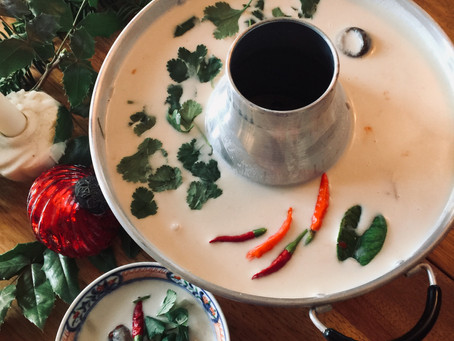 On the Fourth Day of Christmas... Tom Kha Gai Chicken Coconut Soup