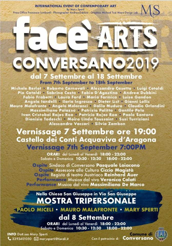 face' ARTS Conversano 2019