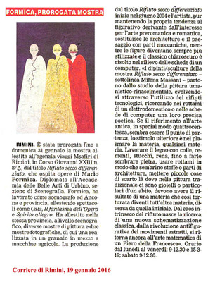 Comunicato stampa, Rimini 19 Gennaio 2016... Press release, Rimini January 19, 2016...