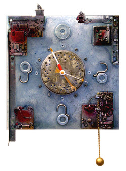 CLOCK WITH REBEL SIX