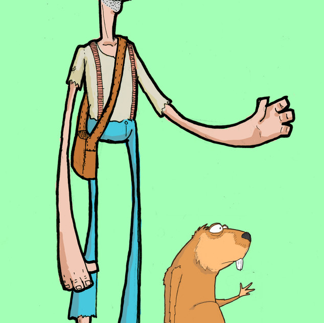 Johnny appleseed and Beaver