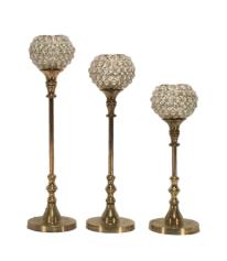 Gold Tiffany Stemmed Candleholders