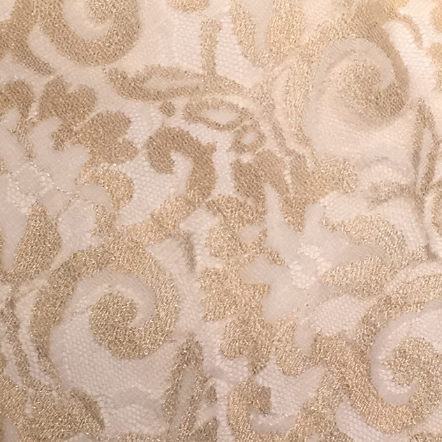 Gold and Ivory Classic Lace Overlay