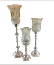 Silver Tulip Candle Holders