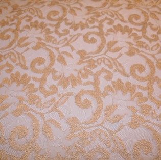 Classic Gold Lace Overlay