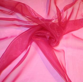 Hot Pink Organza Overlay