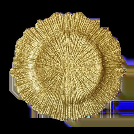Sea Sponge Gold Charger