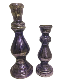 Purple Mercury Candle Holders