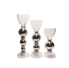 Silver Bulb Candleholder