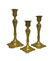 Gold Antique Candlesticks