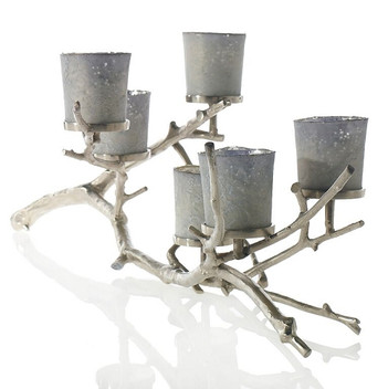 Silver Wildwood Candleholders